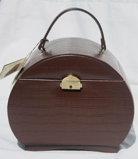 Rowallan Leather Travel Dresser Jewelry Box LBoxBrn 8500